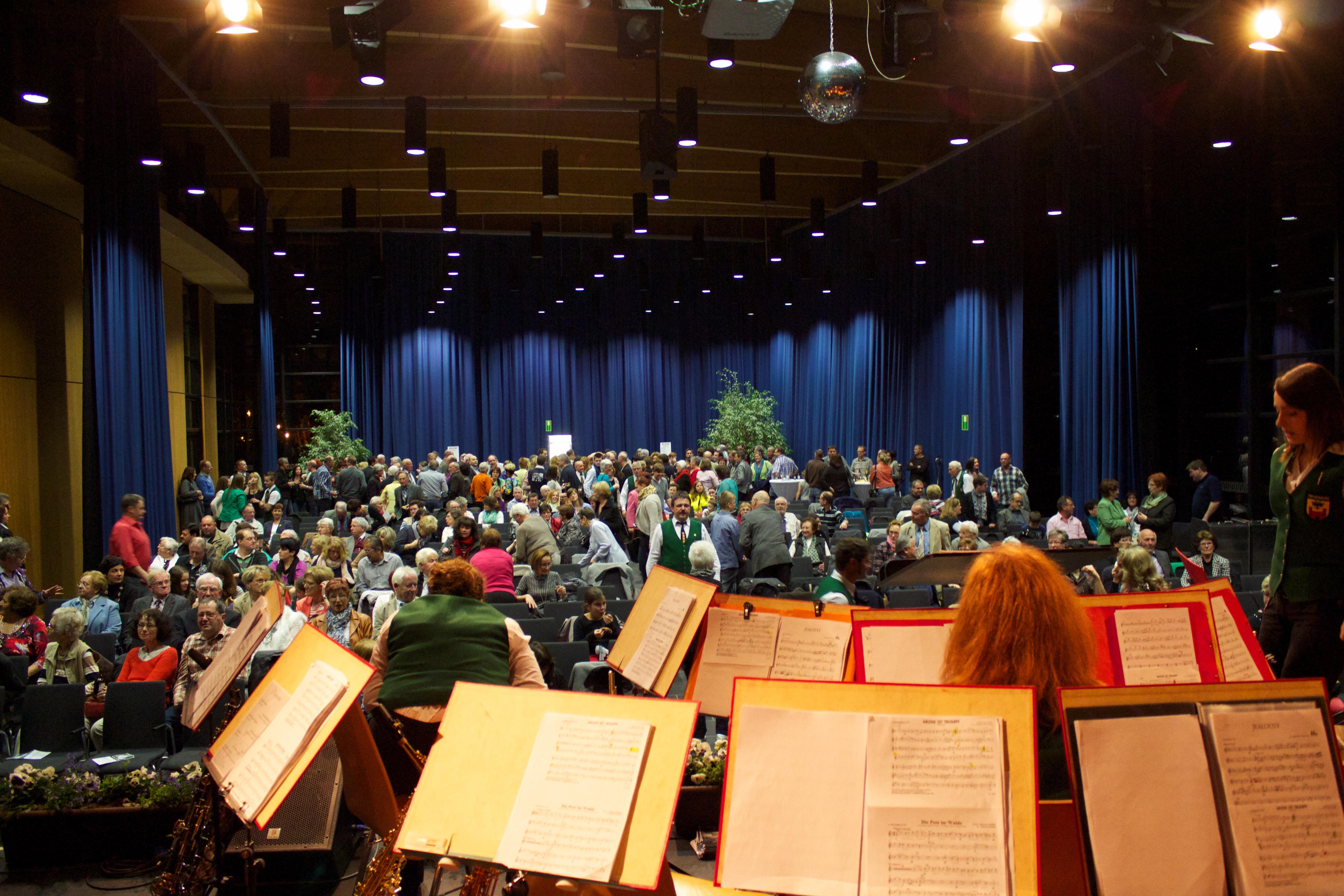 Atrium aus Sicht des Orchesters